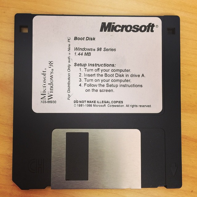 Today's find! #windows #98 #disk