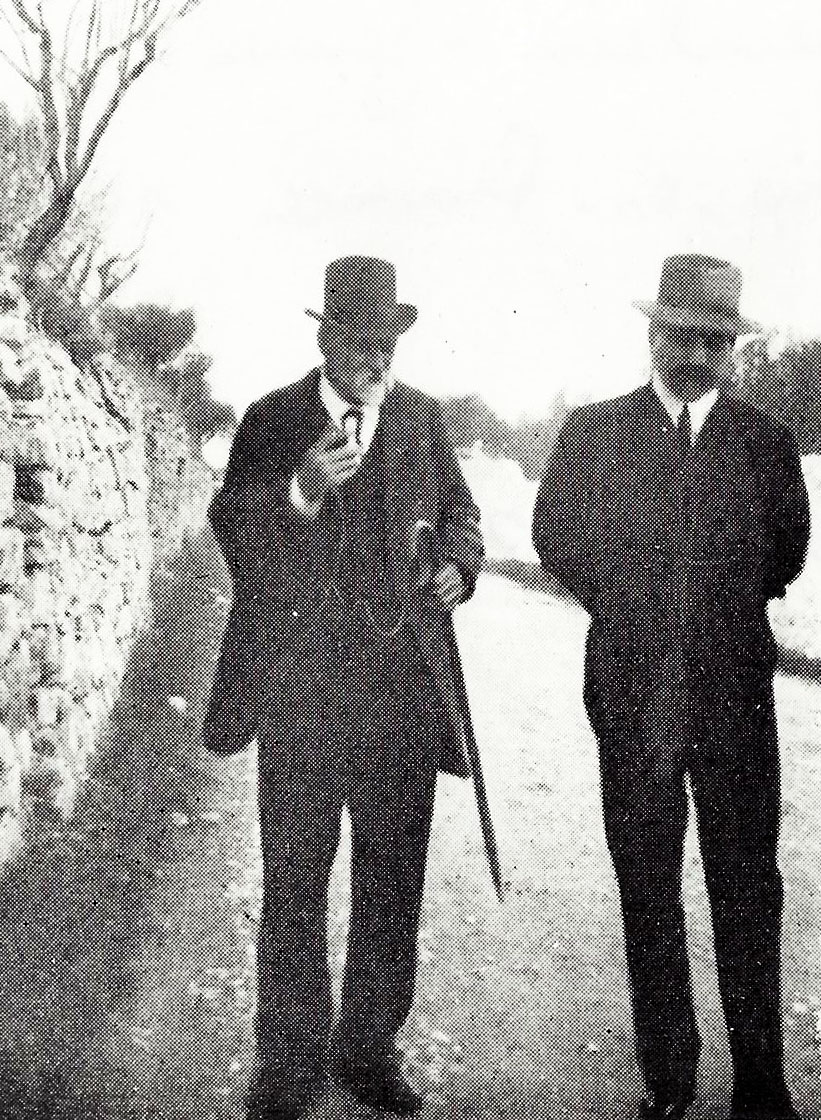 Paul Cézanne and Josse Bernheim at Aix en Provence in 1902