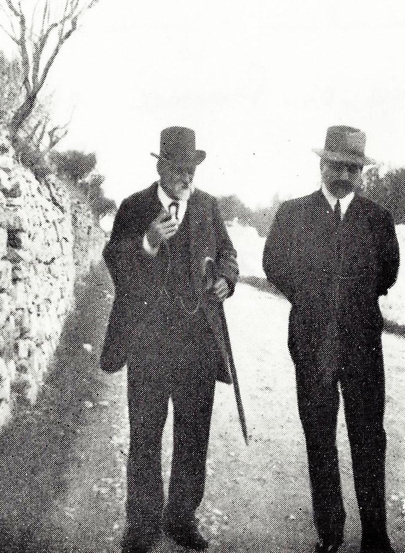 Paul Cézanne et Josse Bernheim à Aix en Provence en 1902