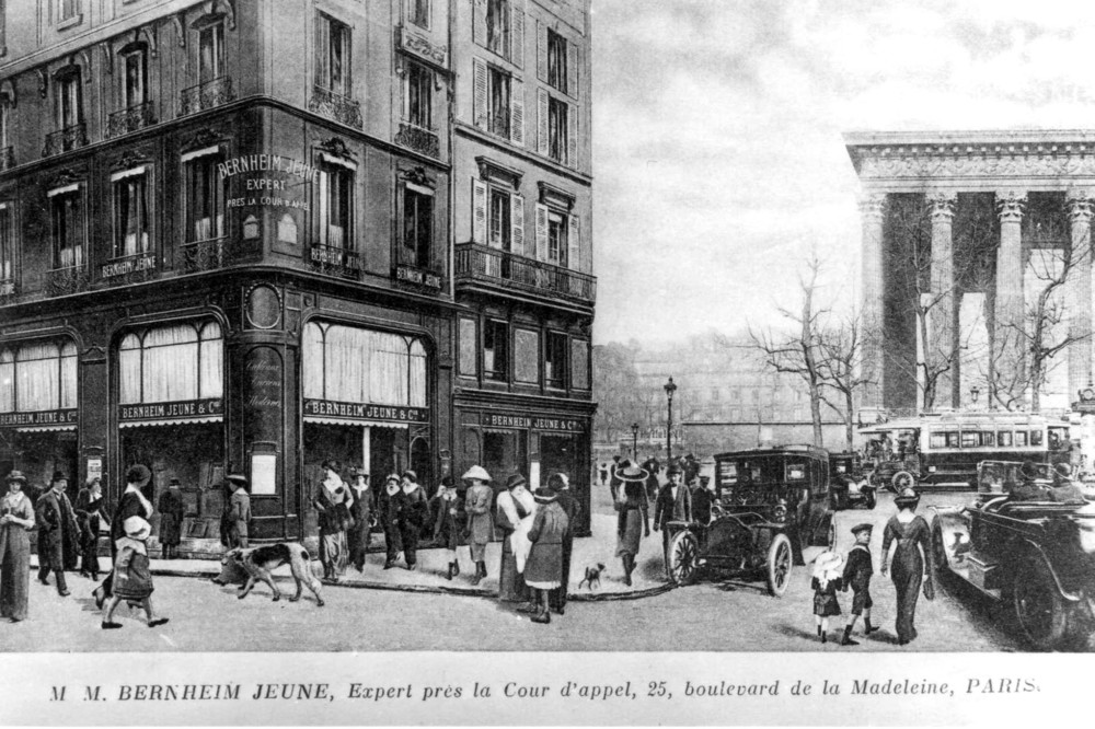 Bernheim-Jeune at the boulevard de la Madeleine and rue Richepanse in 1910