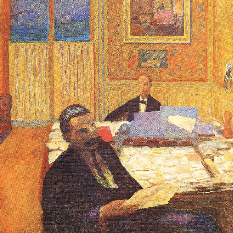 Portrait of Josse and Gaston Berheim-Jeune, by Bonnard
