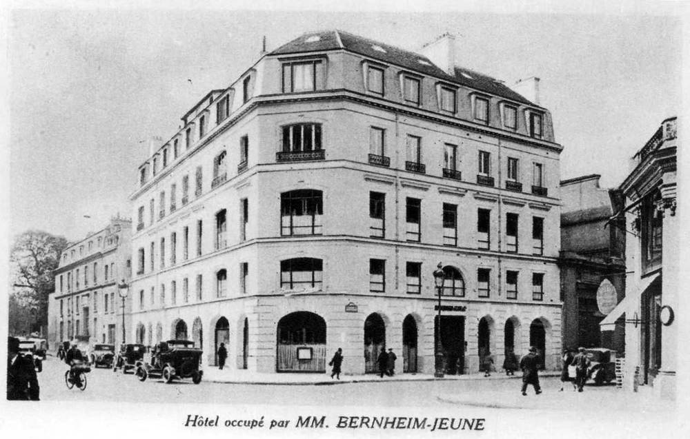 Bernheim-Jeune au 27 avenue Matignon et 83 rue du Faubourg St-Honoré en 1925