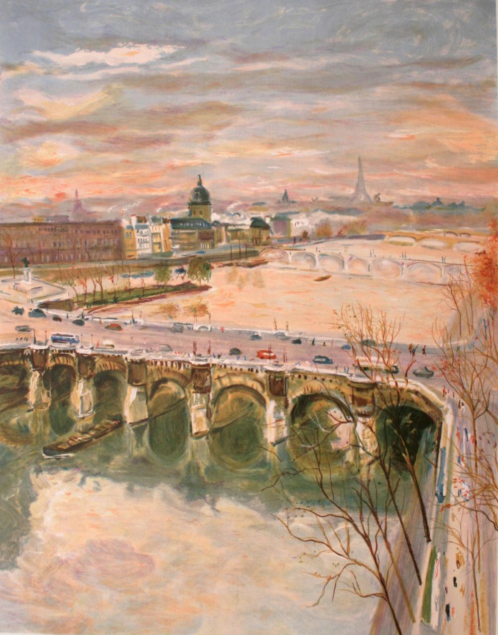 La Seine vue du Pont-Neuf à Paris, 1987