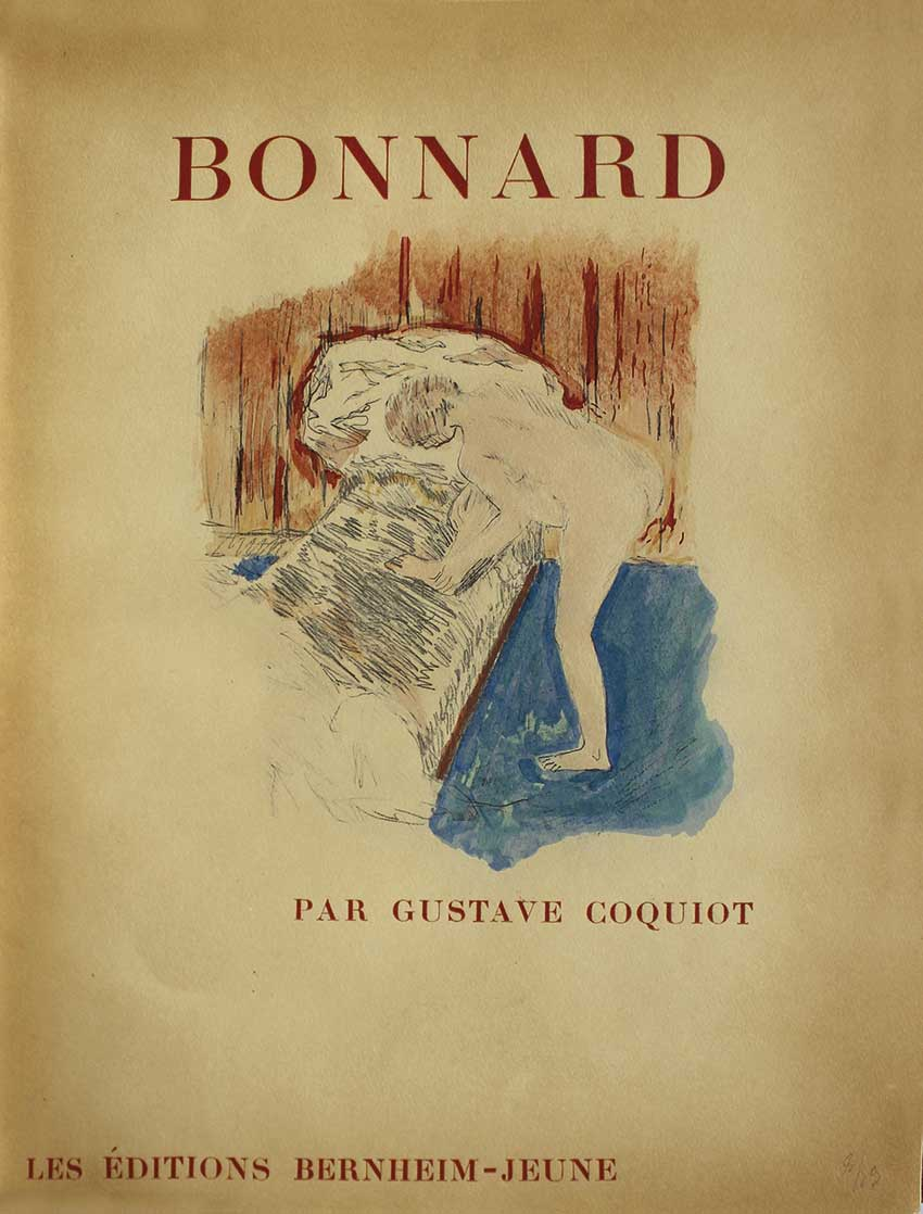 1er livre publié sur Bonnard, en 1922 par les éditions Bernheim-Jeune. - First published book on Bonnard in 1922 by the Bernheim-Jeune editions.