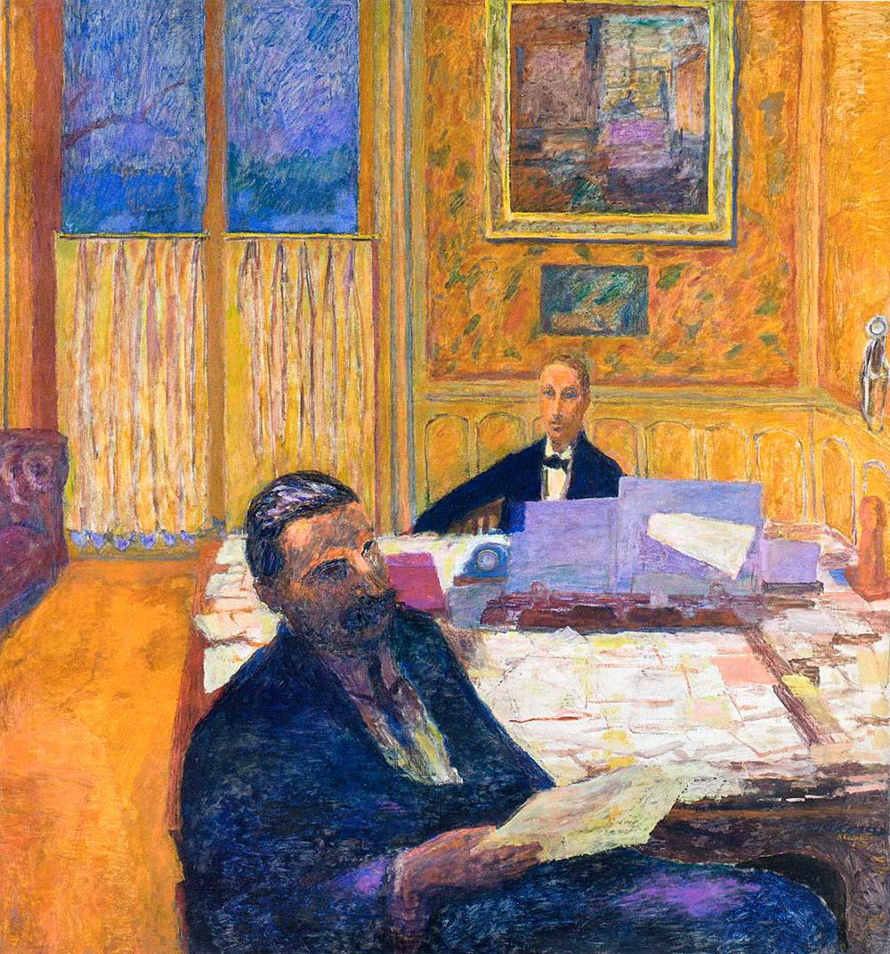Bonnard - Les frères Bernheim-Jeune, 1920 - Tableau exposé au Musée d'Orsay -  Bonnard - The Bernheim-Jeune brothers, 1920 - Table exhibited at the Musée d'Orsay