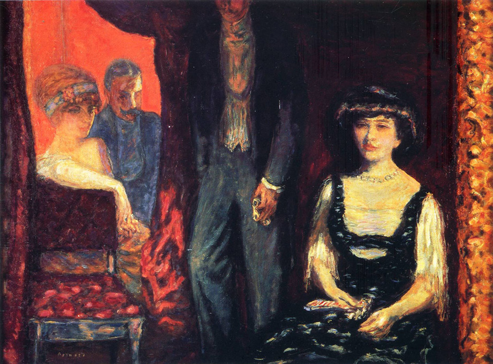 Bonnard - La loge, Portrait des Messieurs et Mesdames Josse et Gaston Bernheim-Jeune, 1908 - Tableau exposé au Musée d'Orsay. -  Bonnard - The Lodge, Portrait of Ladies and Gentlemen Josse and Gaston Bernheim-Jeune, 1908 - Table exhibited at the Musée d'Orsay.
