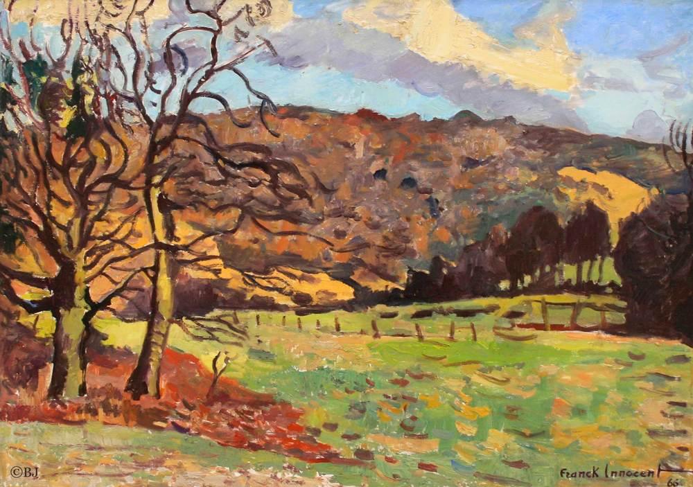 Paysage d'hiver Huile sur toile - 64,5 x 91,5 cm