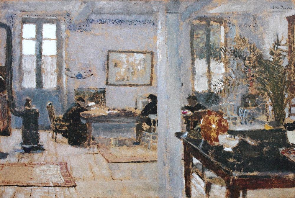 Édouard Vuillard ,  Intérieur, Relais à Villeneuve-sur-Yonne