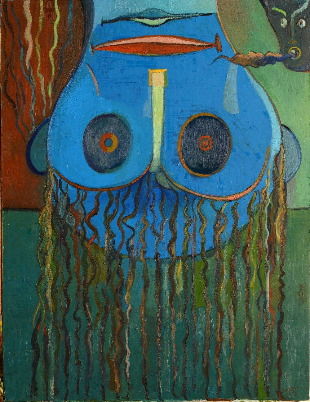Le Baladin - Huile sur toile - 166x89cm