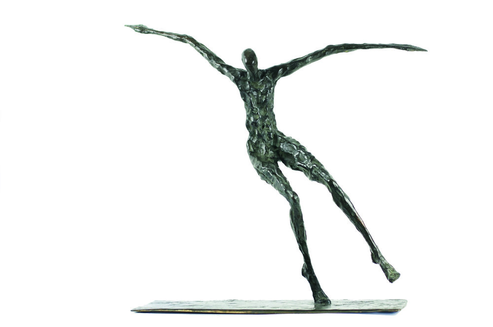 Floating away - Bronze - H 64 cm