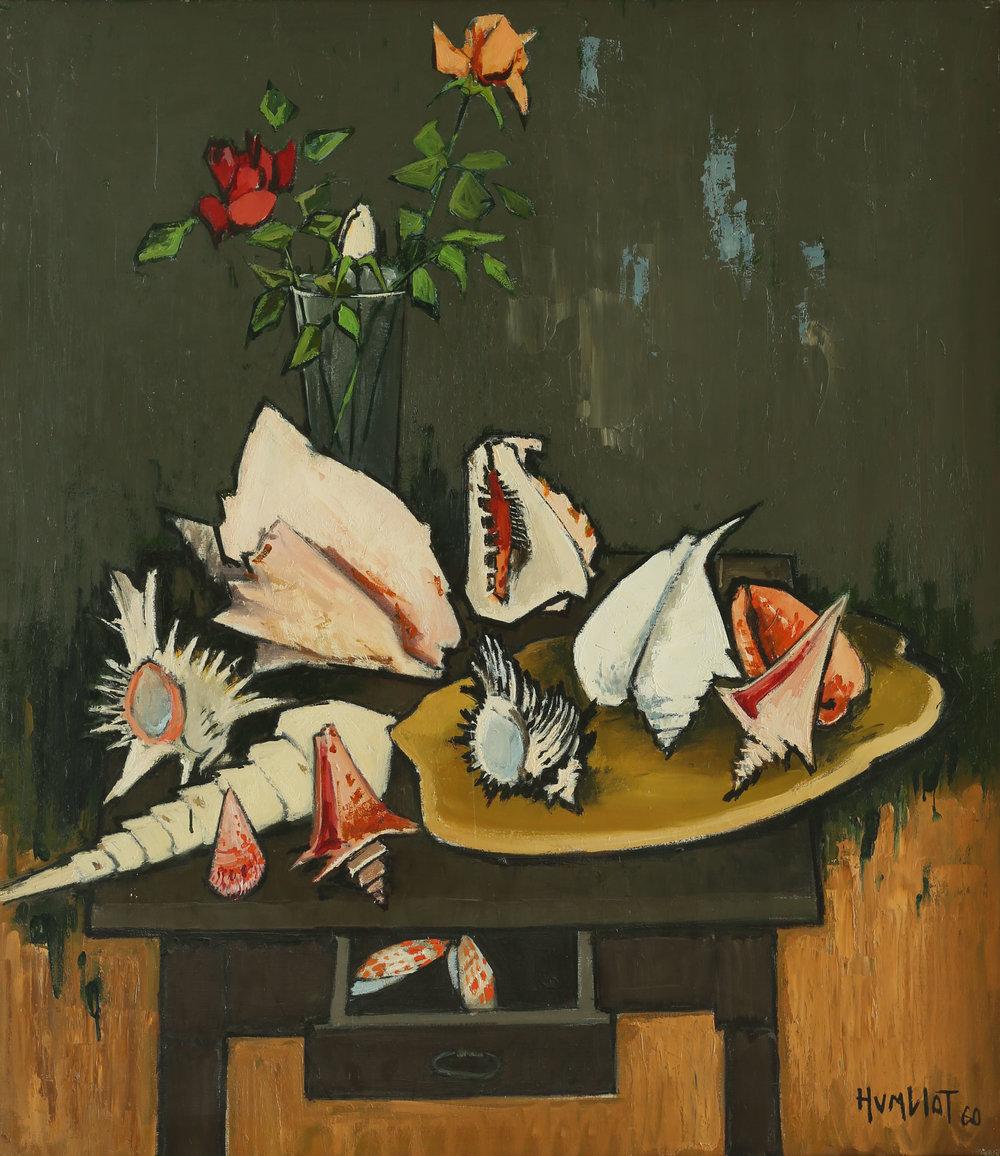 La table du collectionneur Huile sur toile - 110 x 95 cm