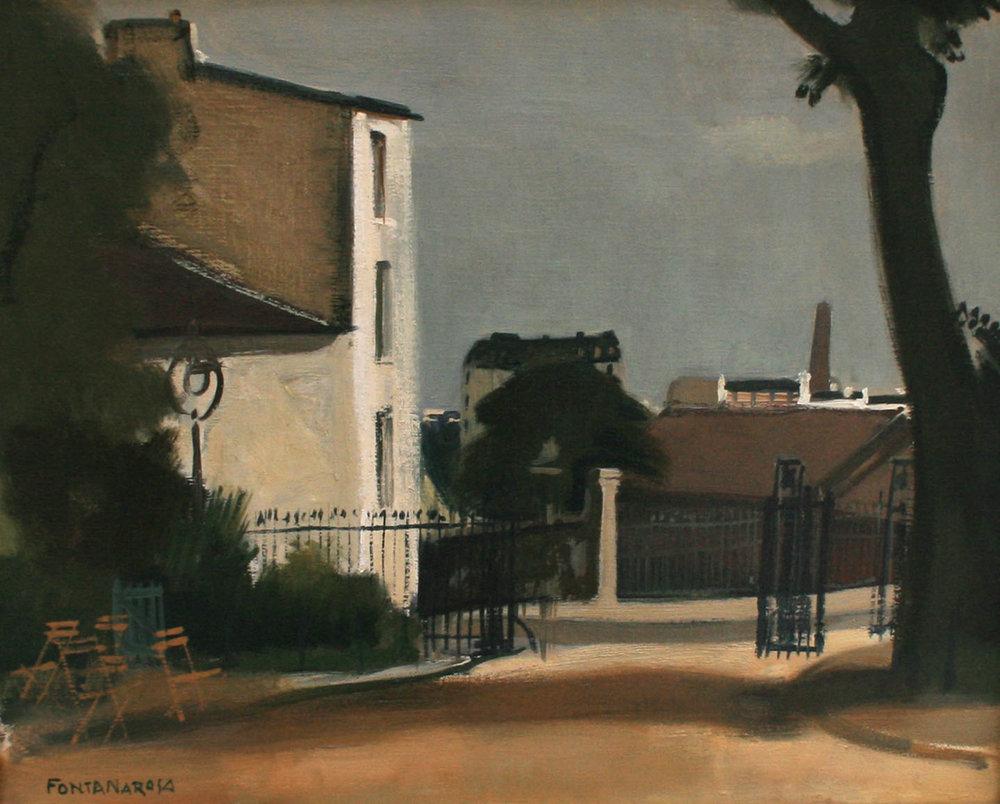 Paris, entrée du Parc des Buttes-Chaumont, 1943  Huile sur toile