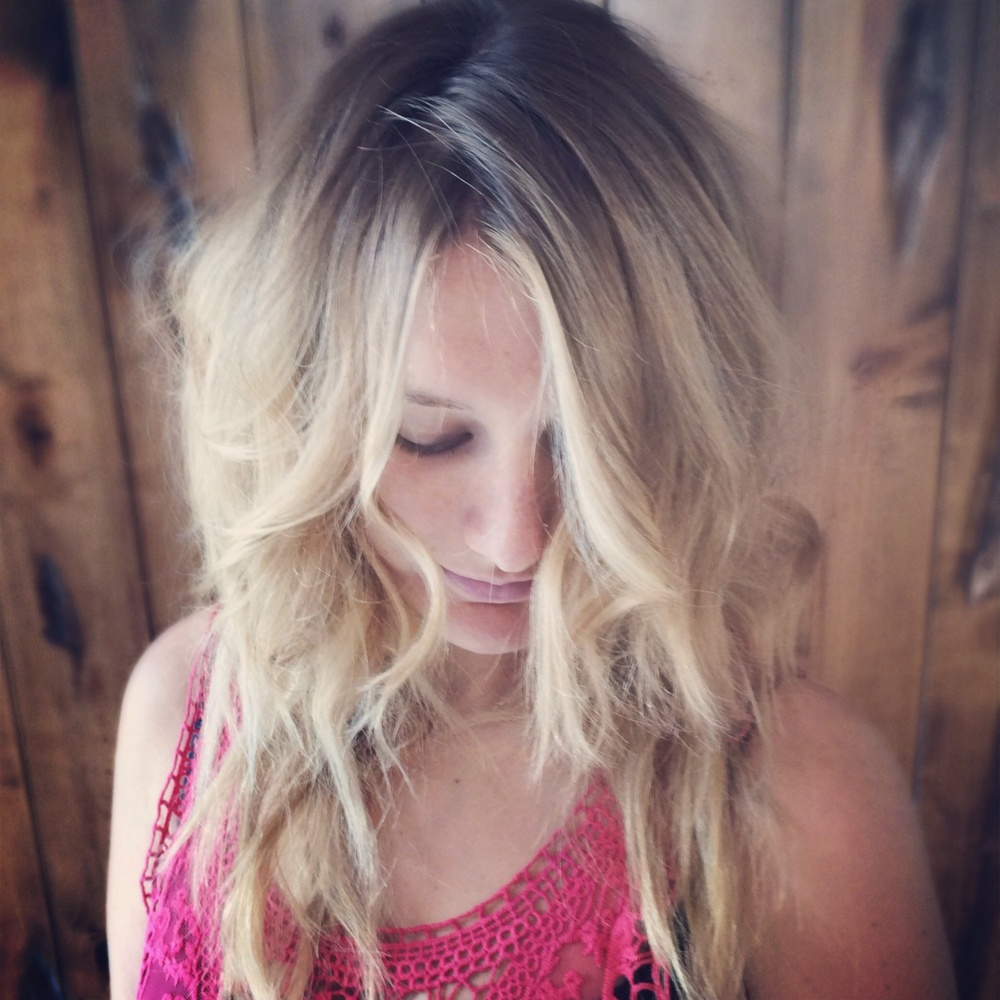 highlights done with hair painting, a form of balayage, at Elle 7 Twenty Salon and Spa, a Vero Beach hair salon.