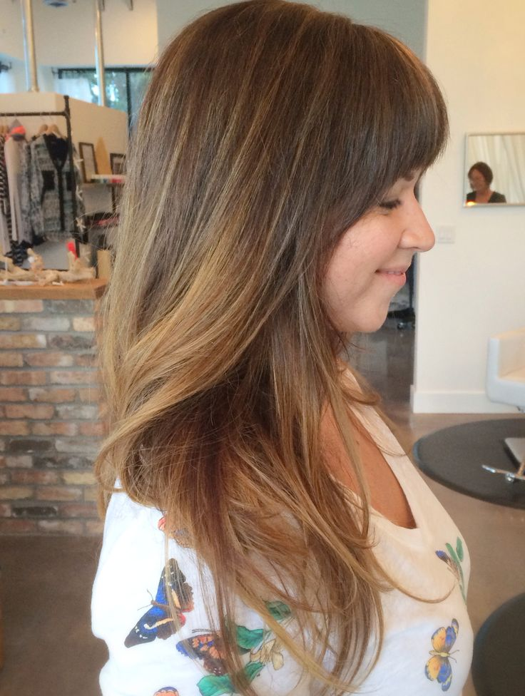 highlights done with foils and balayage/ hair painting. A beautiful bronde style.