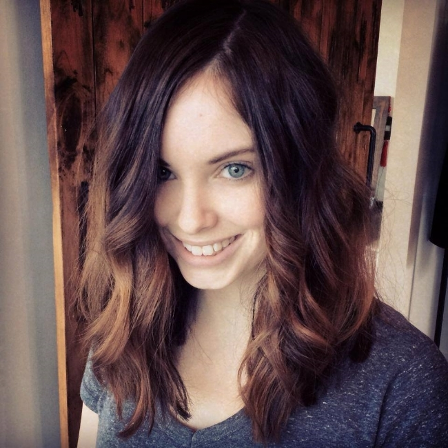 Brianna- blunt, mid length cut with sunkissed ends.