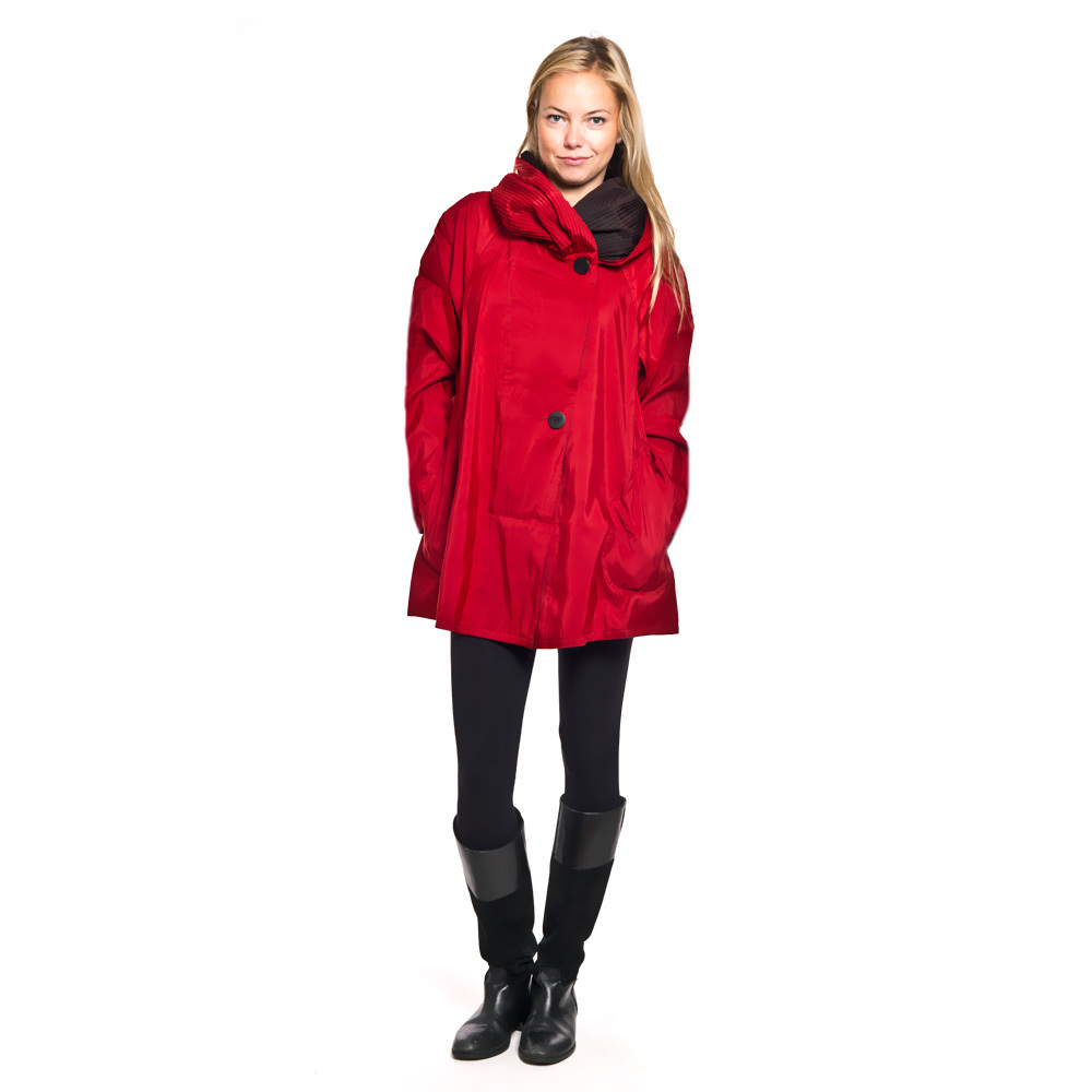 Mycra Pac Mini Raincoats ships to Spain and Europe -sustantivo rojo