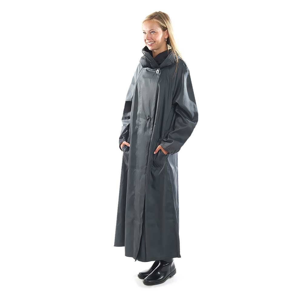 Mycra Pac Gray Nickel Raincoat ships to Denmark