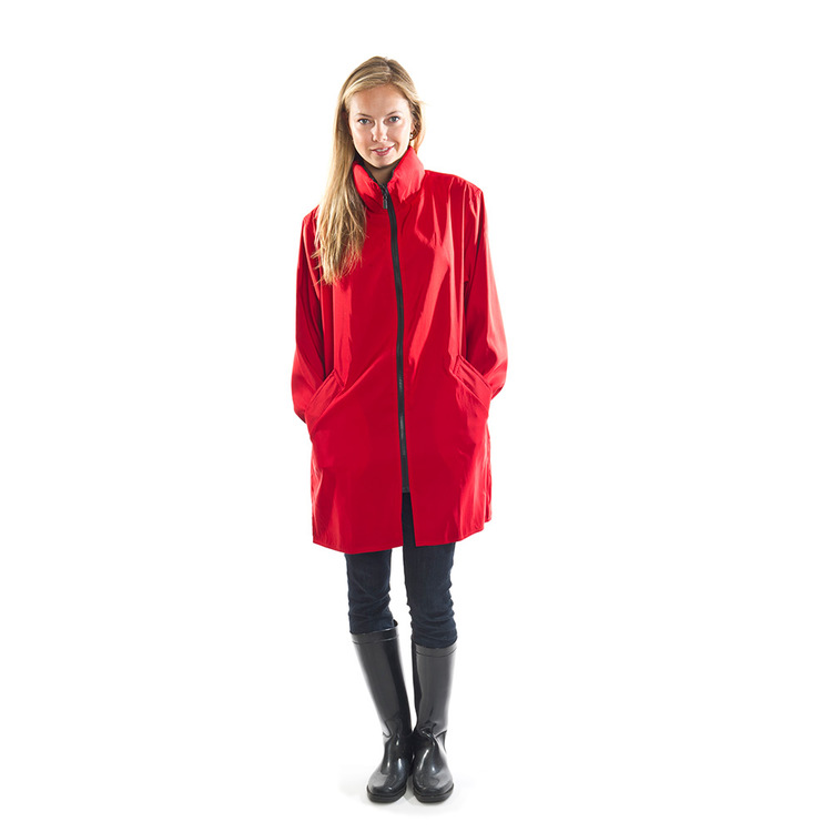 Cherry Red Stadium Rain Jacket