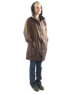 Bronze Brown Stadium Raincoat