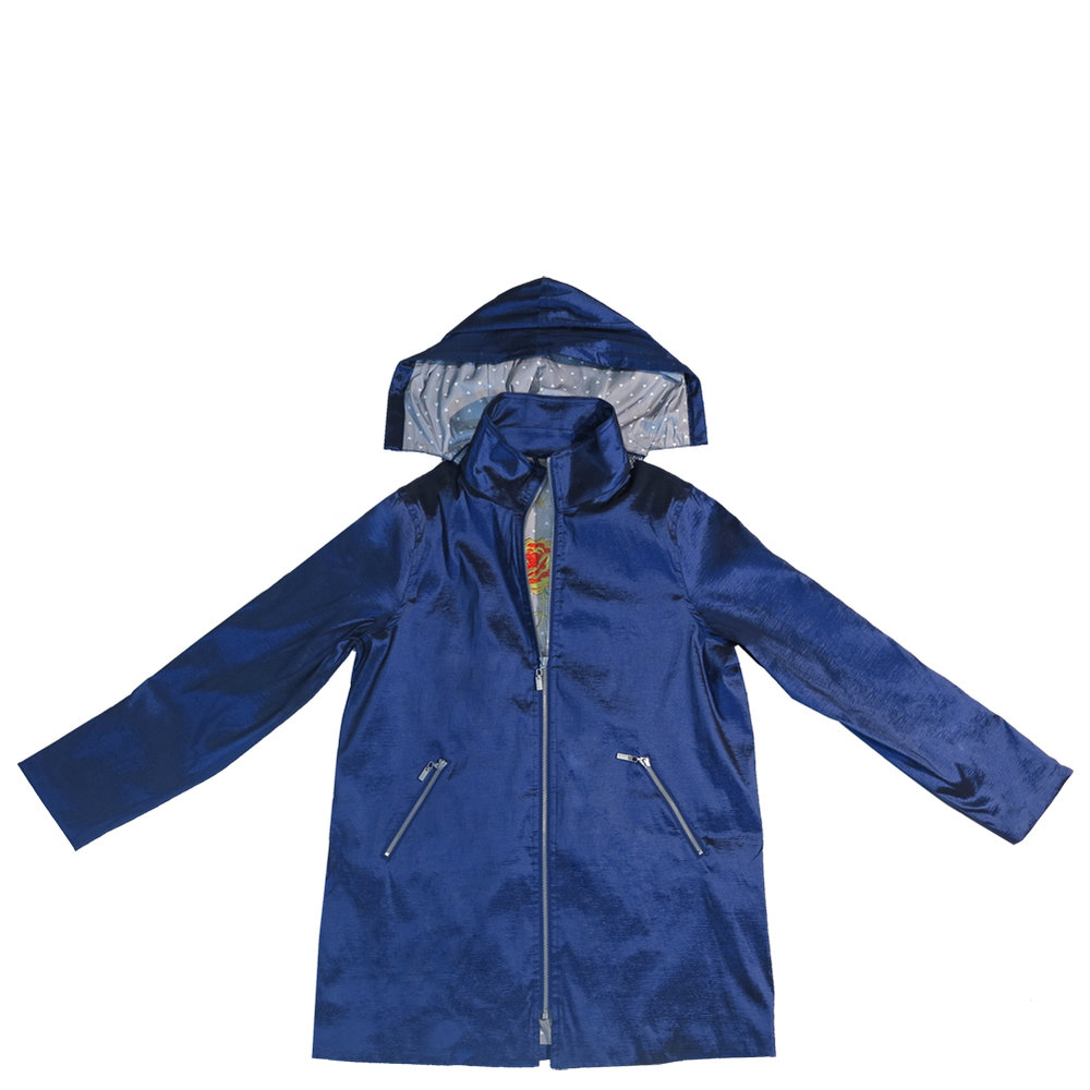 Navy Blue Gabby Raincoat
