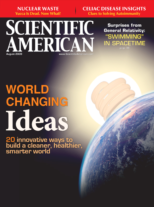 World Changing Ideas. Cover conceptual design for Scientific American Magazine.
