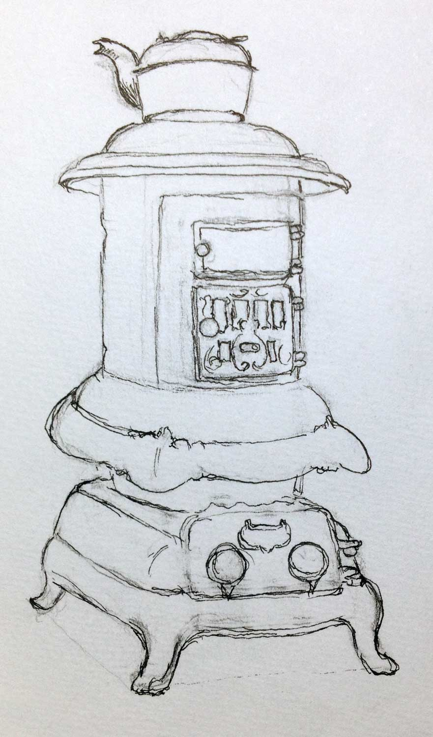 Day 7 It's been cold, here's a stove.