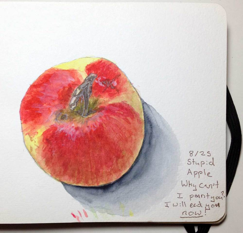 Day 8 How many sketches of apples do I have?