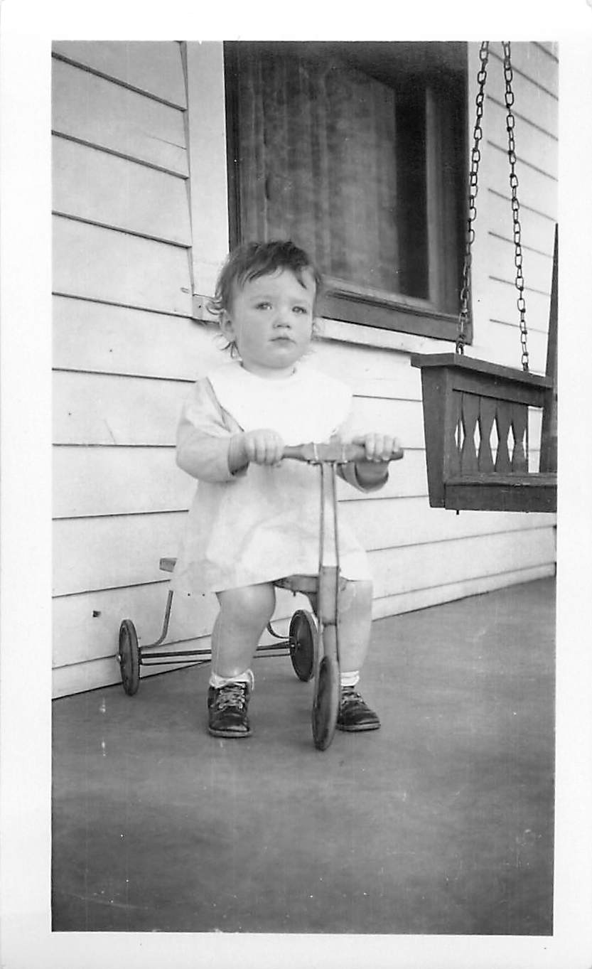 I believe this is my dad's sister Kay who died in childhood. But you can see the trikes of that day are nothing like today.