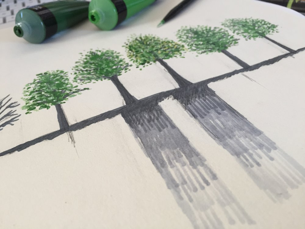 Key Art for   The Trees  , rough concept sketch