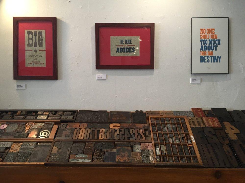 Letterpress prints by Philip Barket
