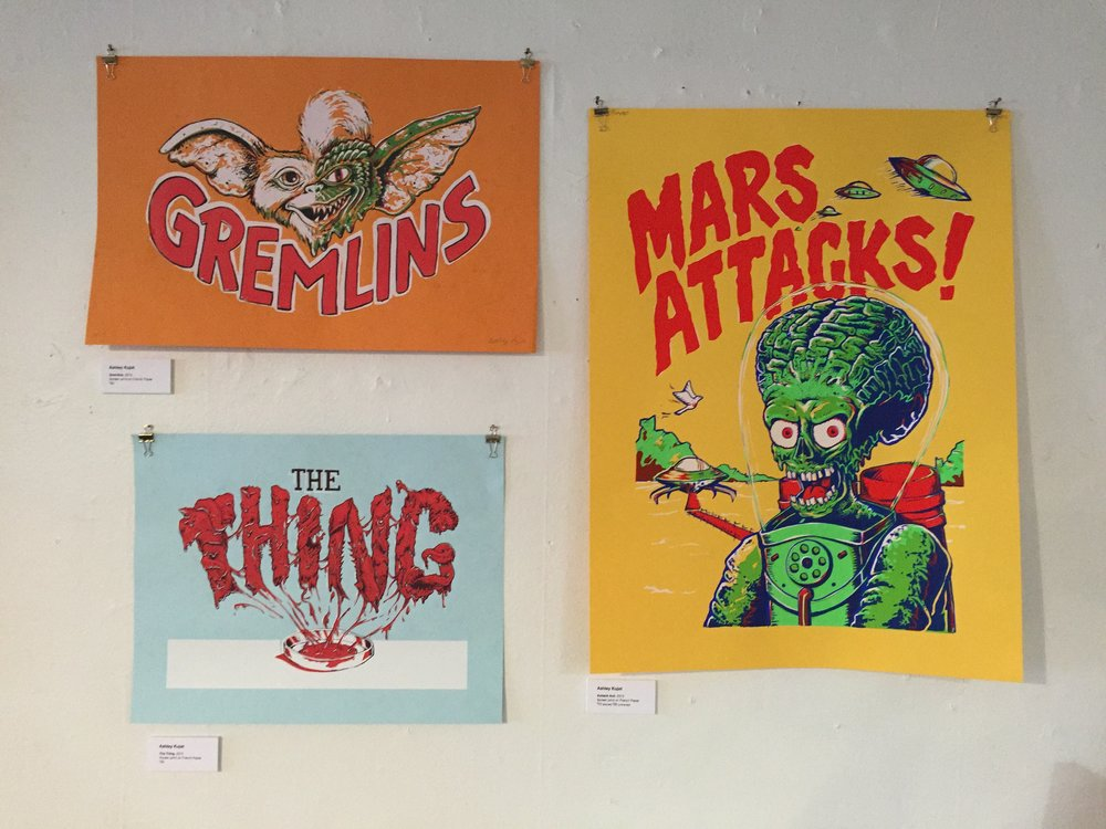 Screen prints by Ashely Kujat
