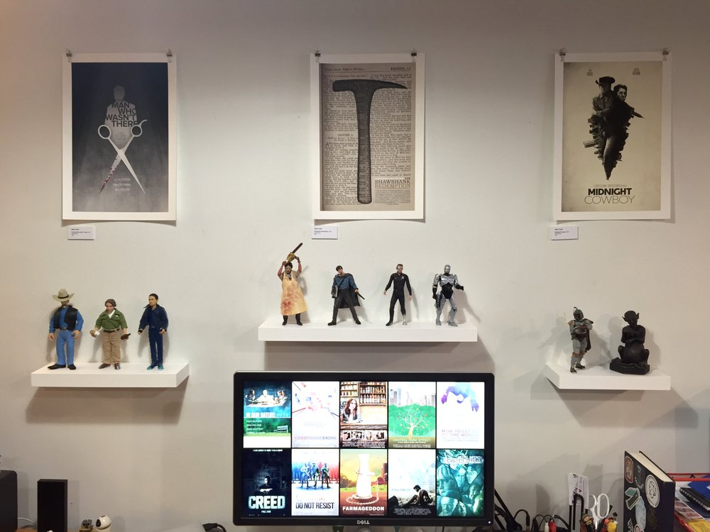 Three of my prints on display