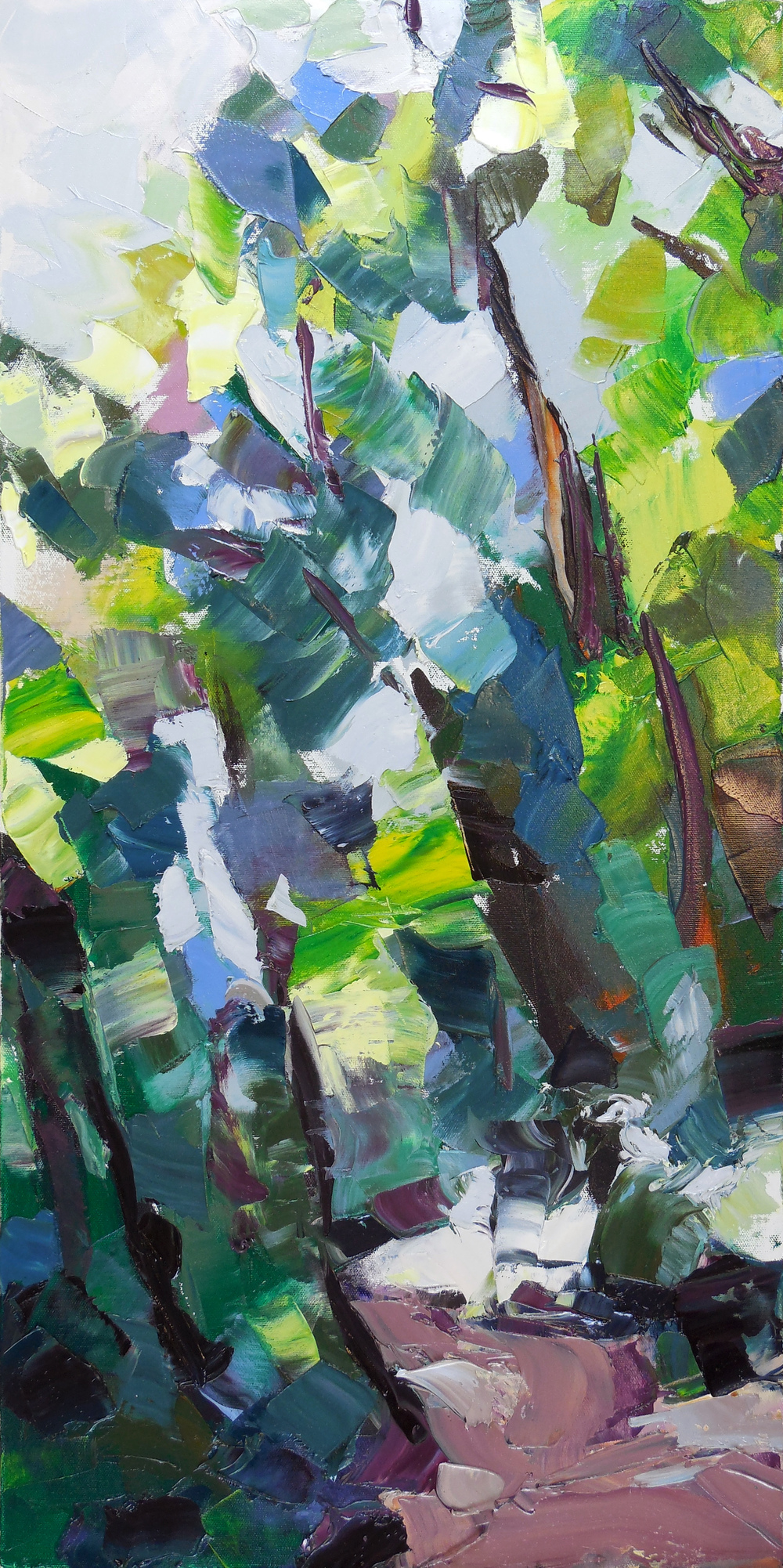 "Loop Trail , 2013 Oil, 30"" x 15"""