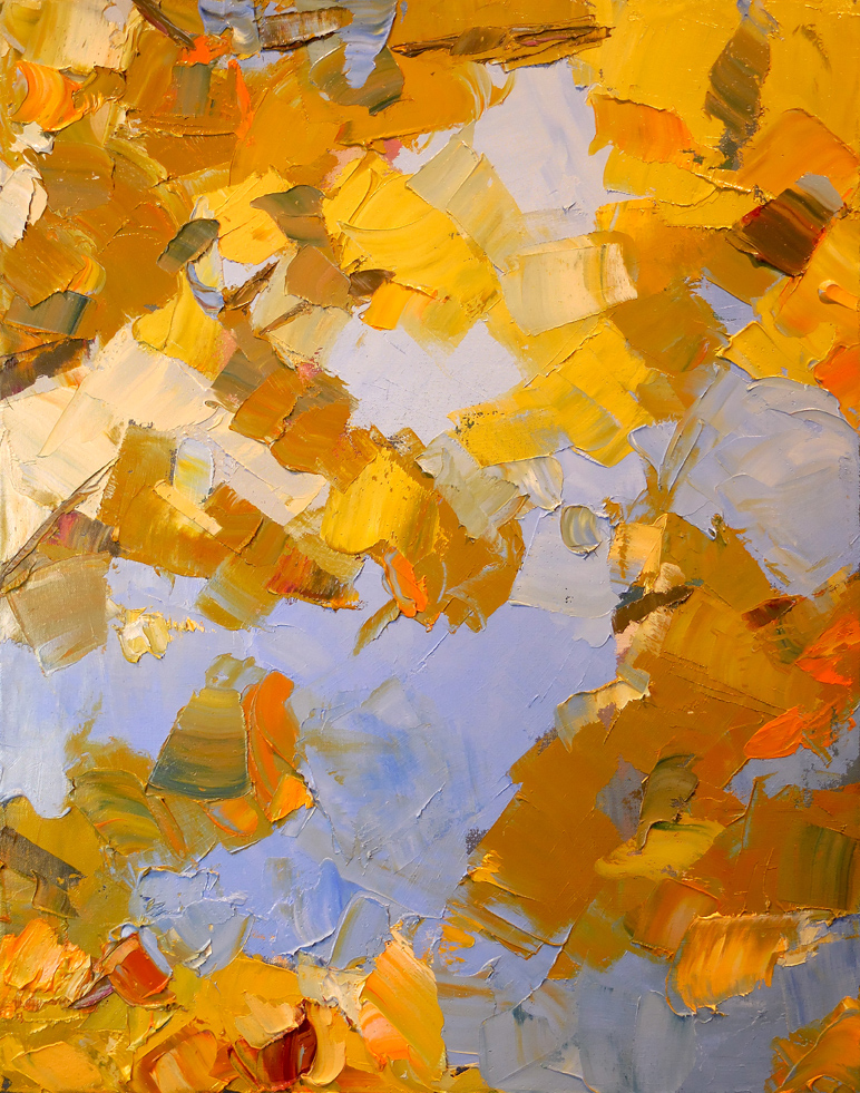 "Finding Gold,  2015 Oil, 24"" x 19"" Sold"
