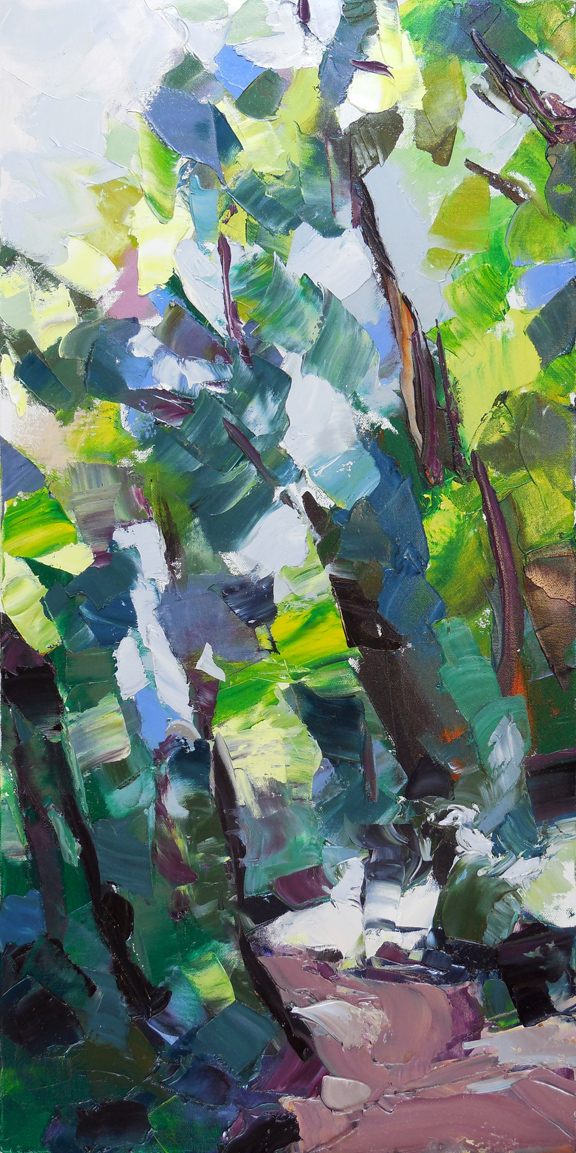 "Loop Trail,  2013 Oil, 30"" x 15"" Sold"