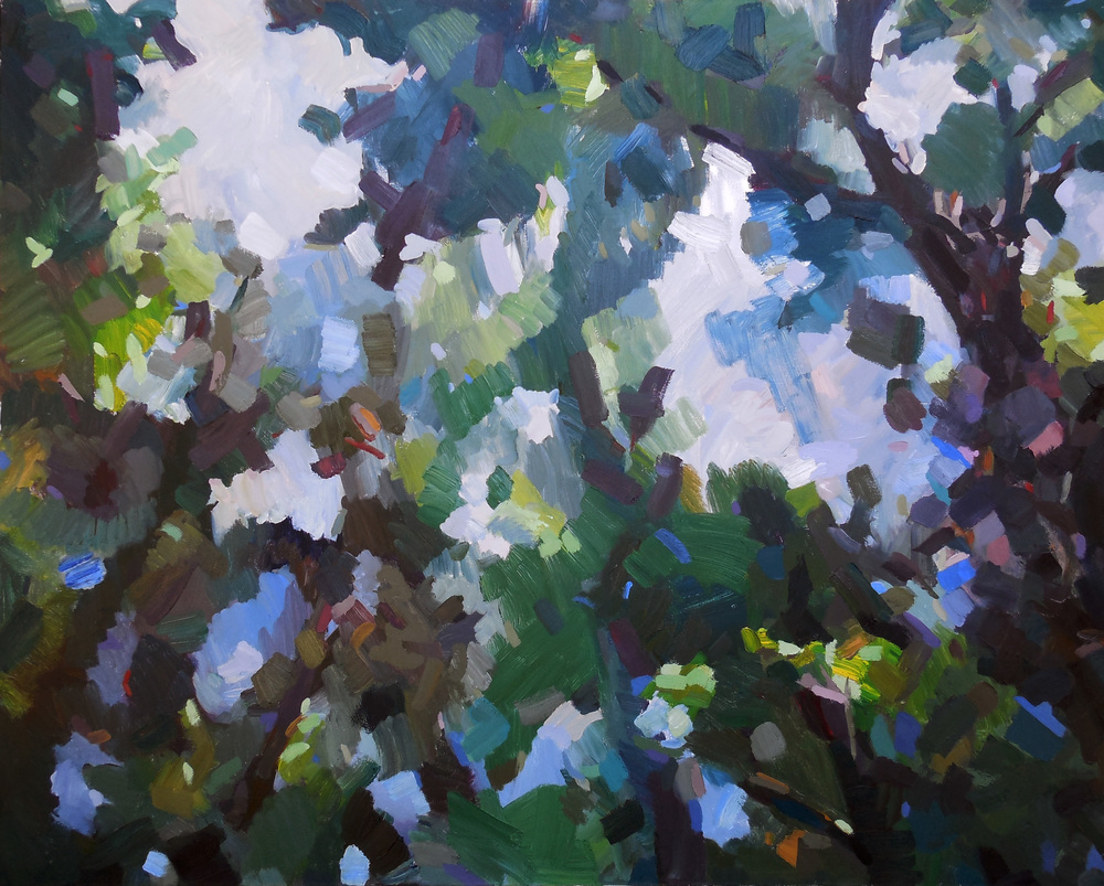 "September Sky,  2013 Oil, 40"" x 50"" Sold"
