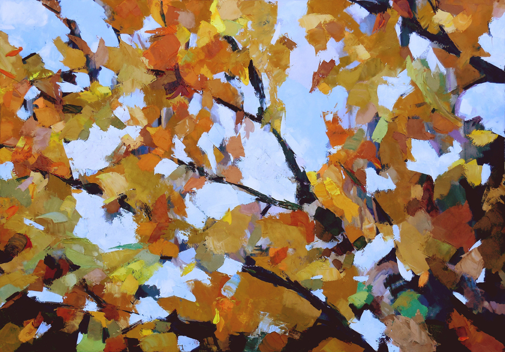 "October Sky,  2013 Oil, 42"" x 60"""