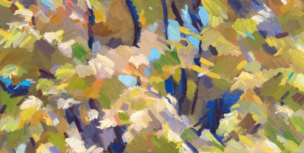 "Fall Abstract,  2013 Oil, 15"" x 30"""