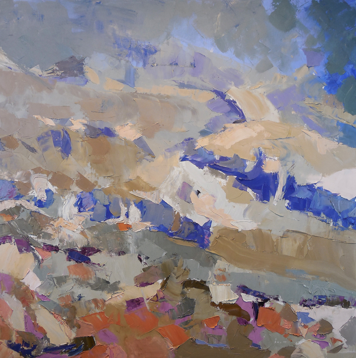 "Mt. Saint Helens, Territorial View,  2014 Oil on canvas, 30"" x 30"" Private collection"