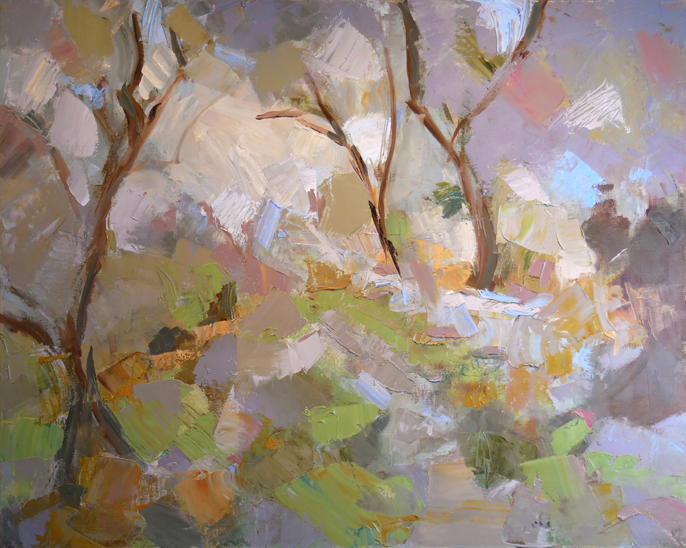 "Into the Forest,  2015 Oil, 20"" x 30""  Available"