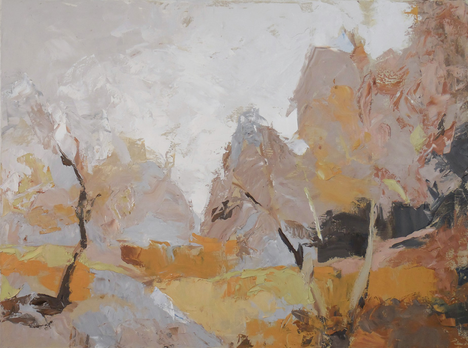 "Autumn Clearing , 2016 Oil on canvas, 30"" x 40"" On hold for exhibition"