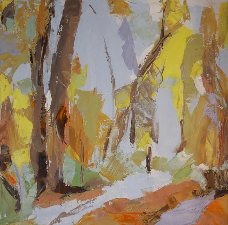 "Lemon Forest, 2016 Oil on canvas, 20 x 20"""
