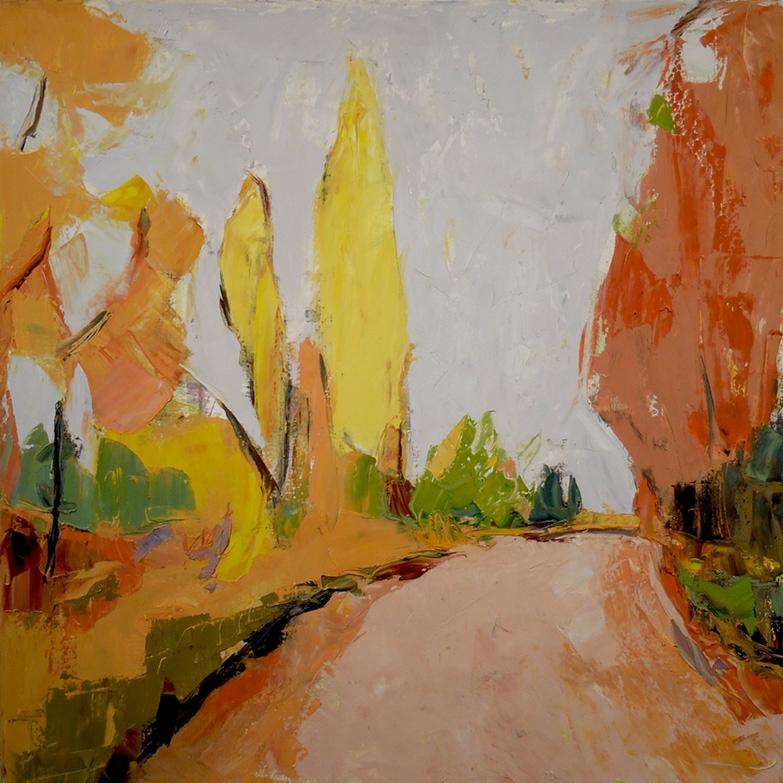 "Yellow Poplar, 2016 Oil on Canvas, 30 x 30"" Sold"