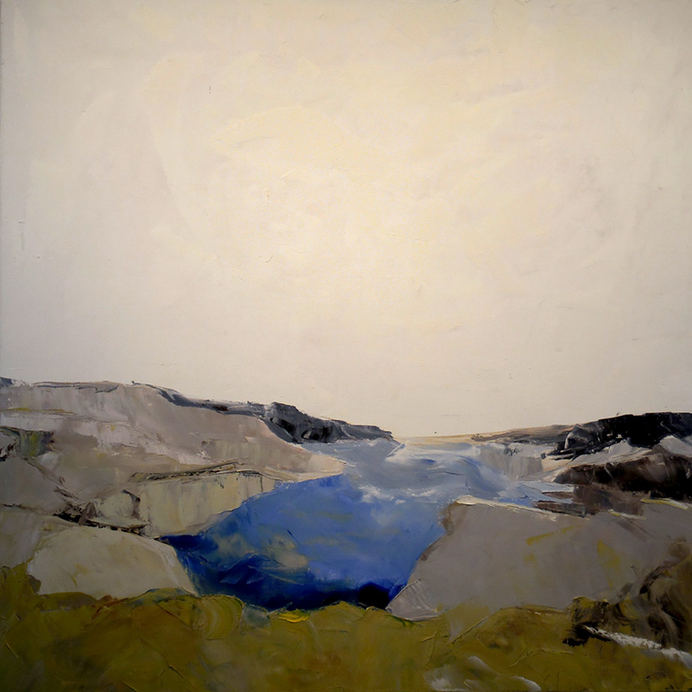 "Inlet,  2016 Oil on canvas, 40 x 40"" On Hold for exhibition"