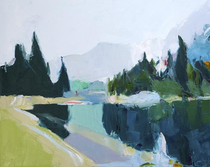 "Wonderland,  2018 Oil on canvas, 24 x 30"" Available"