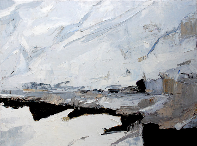 """Breach , 2017 Oil on canvas, 36 x 49"""" Available through Gallery Mack"""