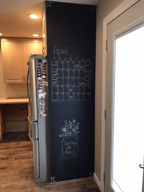 After diy chalk board paint.