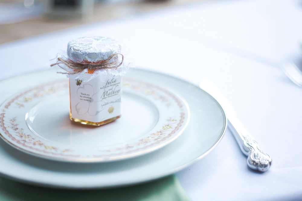 Each place setting was painstakingly mixed and matched to create a balance between the masculine and feminine.