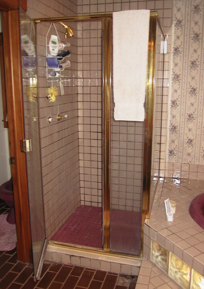 Doesn't look too bad.  The owner called me because he noticed a little leaking.  The shower head is on the upper left side.