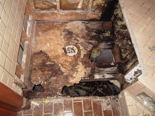 A tile shower gone wrong emmet kitchen bath for Fall in shower floor